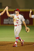 April 13, 2009:  Right Fielder Shane Peterson (16) of the Palm Beach Cardinals, Florida State League Class-A affiliate of the St. Louis Cardinals, during a game at Hammond Stadium in Fort Myers, FL.  Photo by:  Mike Janes/Four Seam Images