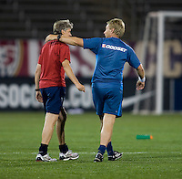 Thomas Dennerby, Pia Sundhage. The USWNT defeated Sweden, 3-0.