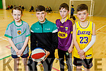 Molly Casey (Tralee), Daire Kennelly, Jonathan Galvin and Jack Conway (Tralee) at the Basketball workshop at the Kerry Sports Academy Open Day at the I T Tralee on Saturday.