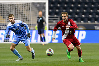 Chester, PA - Friday December 08, 2017: Spencer Glass The Indiana Hoosiers defeated the North Carolina Tar Heels 1-0 during an NCAA Men's College Cup semifinal soccer match at Talen Energy Stadium.