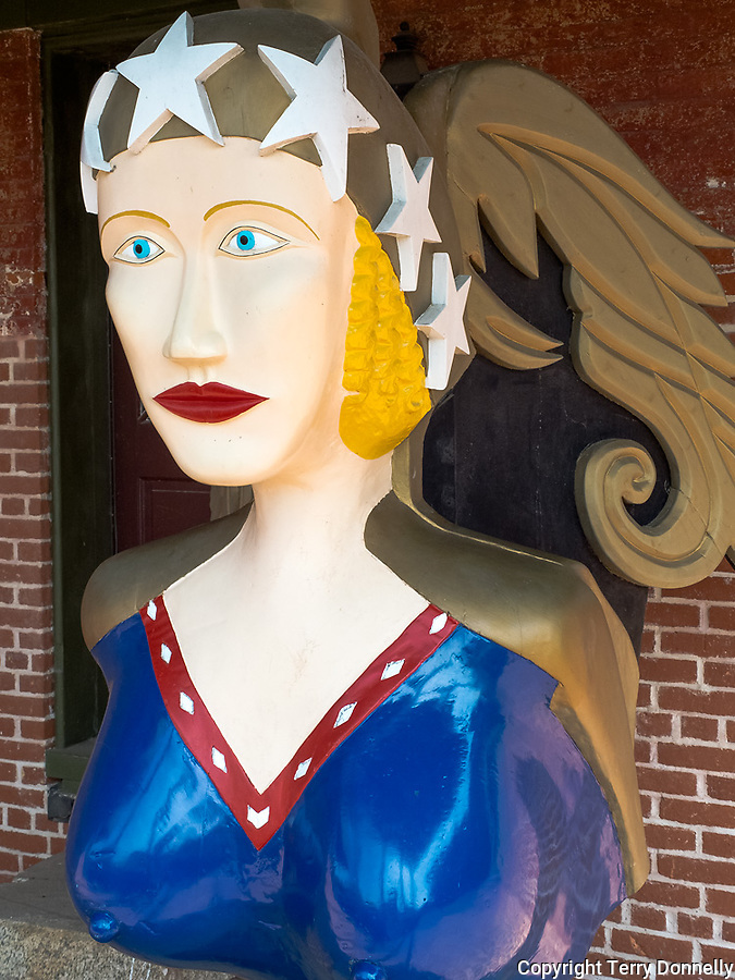 Chesapeake Bay Maritime Museum, St. Michaels, Maryland<br /> Painted ship's figurehead