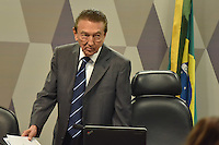 BRASÍLIA, DF, 21.02.2017 – SABATINA-SENADO – O presidente da CCJ, senador Edson Lobão durante sabatina na manhã desta terça-feira, 21, na CCJ do Senado. (Foto: Ricardo Botelho/Brazil Photo Press)