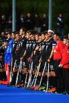 The Black Sticks line up before the Sentinel Homes Trans Tasman Series hockey match between the New Zealand Black Sticks Men and the Australian Kookaburras at Massey University Hockey Turf in Palmerston North, New Zealand on Sunday, 30 May 2021. Photo: Dave Lintott / lintottphoto.co.nz