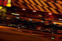 Daytona Prototypes race into the infield.