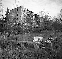 Chernobyl, Ukraine, Ocober 1995.&#xD;The explosion at the Chernobyl Nuclear Power Plant on April 26 1986 was the worst nuclear accident in history.&#xD;The city of Pripyat, within sight of the power plant, and formerly the home of Chernobyl staff and thousands of others, lies deserted.<br />