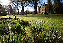 18/01/15<br /> <br /> Surrounded by sunshine and blue skies sisters, April (3) and Belle (2) Addis, look for the first snowdrops of the year and other signs of spring in the grounds of Huntsham Court, a baronial private-hire house, near Tiverton,  Devon.<br /> <br /> All Rights Reserved - F Stop Press.  www.fstoppress.com. Tel: +44 (0)1335 300098