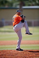 Miami Marlins pitcher Nestor Bautista (61) during a Minor League Spring Training Intrasquad game on March 27, 2018 at the Roger Dean Stadium Complex in Jupiter, Florida.  (Mike Janes/Four Seam Images)