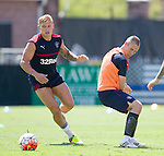Martyn Waghorn and Kenny Miller