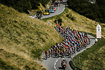 The peloton climb Port de Balès during Stage 8 of Tour de France 2020, running 141km from Cazeres-sur-Garonne to Loudenvielle, France. 5th September 2020. <br /> Picture: ASO/Pauline Ballet | Cyclefile<br /> All photos usage must carry mandatory copyright credit (© Cyclefile | ASO/Pauline Ballet)