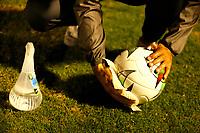 ENVIGADO- COLOMBIA,7-10- 2020:Envigado y America de Cali  en partido por la fecha 12 de la Liga BetPlay DIMAYOR I 2020 jugado en el estadio Polideportivo Sur de la ciudad de Envigado. / Envigado and America de Cali in match for the date 12 BetPlay DIMAYOR League I 2020 played at Polideportivo Sur stadium in Envigado city. Photo: VizzorImage / Donaldo Zuluaga / Contrbuidor