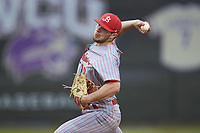 St. John's Red Storm starting pitcher Ian Murphy (12) in action against the Western Carolina Catamounts at Childress Field on March 13, 2021 in Cullowhee, North Carolina. (Brian Westerholt/Four Seam Images)