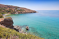 Agia Marina beach in Andros, Greece