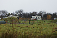 Pictured: Other make-shift homes in Lammas village. Friday 05 January 2017<br /> Re: A house that was featured in Channel 4 programme Grand Designs has been destroyed in a fire. The house, owned by Simon and Jasmine Dale is located at the Lammas Eco village near Glandwr in west Wales, UK.