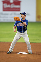 September 3, 2009:  Second Baseman Ryan Schimpf (11) of the Auburn Doubledays during a game at Dwyer Stadium in Batavia, NY.  Auburn is the Short-Season Class-A affiliate of the Toronto Blue Jays.  Photo By Mike Janes/Four Seam Images