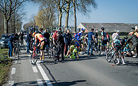 A lot of crashes in today's race...<br /> <br /> 53rd Le Samyn 2021<br /> ME (1.1)<br /> 1 day race from Quaregnon to Dour (BEL/205km)<br /> <br /> ©kramon