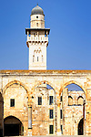 Islamic minaret on the Temple Mount in Jerusalem