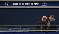 04.02.2018, Football 1. Bundesliga 2017/2018, 21.  match day, Hamburger SV - Hannover 96, Volksparkstadium Hamburg.  president Martin Kind (Hannover) and sport director  Horst Heldt (Hannover)  *** Local Caption *** © pixathlon<br /> <br /> +++ NED + SUI out !!! +++<br /> Contact: +49-40-22 63 02 60 , info@pixathlon.de