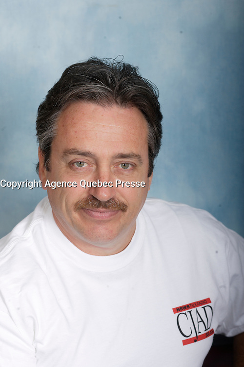 Montreal (QC) CANADA - October 2008 File Photo-<br /> Exclusive portrait of Astral Radio host <br /> Claude BEAULIEU