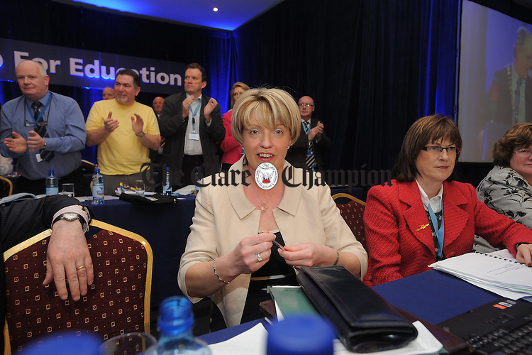 Minister Mary Coughlan visit to TUI coference at West County Hotel Ennis. Photograph by John Kelly.