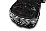 Car Stock 2015 Lincoln Navigator 2Wd AT 5 Door Suv 2WD Engine high angle detail view