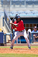FCL Twins outfielder Luis Baez (11) bats during a game against the FCL Rays on July 20, 2021 at Charlotte Sports Park in Port Charlotte, Florida.  (Mike Janes/Four Seam Images)