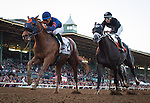 ARCADIA, CA - DECEMBER 26: Mind Your Biscuits #2, ridden by Joel Rosario win the Malibu Stakes at Santa Anita Park on December 26, 2016 in Arcadia, California. (Photo by Zoe Metz/Eclipse Sportswire/Getty Images)