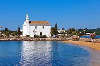 Greek Orthodox church of  Ipapandi,  Gouvia Bay, Corfu Greek Ionian Island