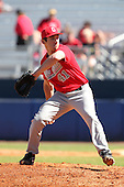 Ohio State Buckeyes Brian Bobinski #41 during a game vs. the Illinois State Redbirds at Chain of Lakes Park in Winter Haven, Florida;  March 11, 2011.  Illinois defeated Ohio State 12-1.  Photo By Mike Janes/Four Seam Images