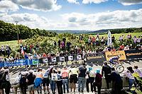 Mathieu Van der Poel (NED/Alpecin-Fenix) attacking up the brutal Mûr-de-Bretagne finish climb.<br /> <br /> Stage 2 from Perros-Guirec to Mûr-de-Bretagne, Guerlédan (184km)<br /> 108th Tour de France 2021 (2.UWT)<br /> <br /> ©kramon
