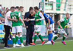 Hibs v St Johnstone….24.08.19      Easter Road     SPFL <br />Scott Allan is subbed by Vykintas Slivka<br />Picture by Graeme Hart. <br />Copyright Perthshire Picture Agency<br />Tel: 01738 623350  Mobile: 07990 594431