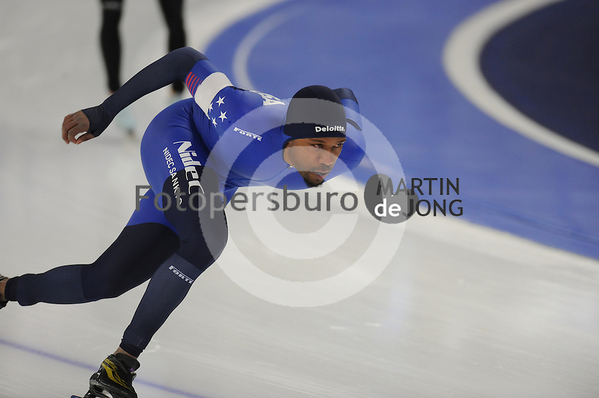 SPEEDSKATING: BERLIN: Sportforum Berlin, 27-01-2017, ISU World Cup, Shani Davis (USA), ©photo Martin de Jong