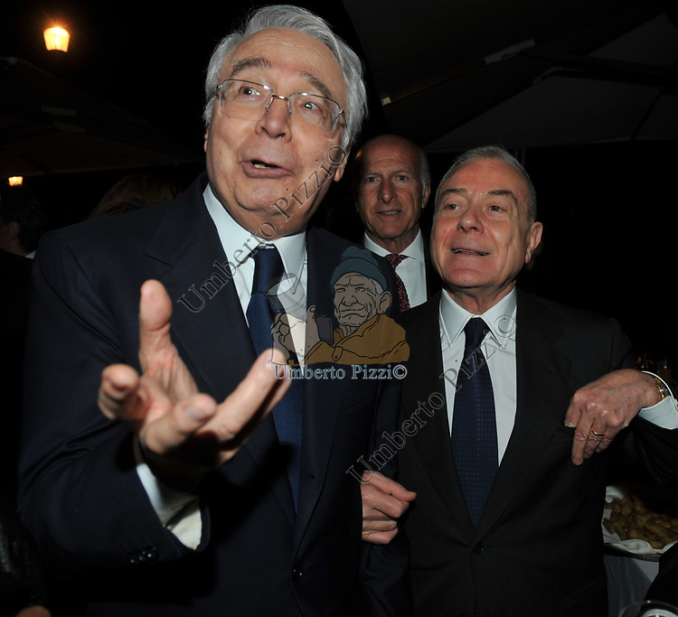 CESARE GERONZI CON GIANNI LETTA<br /> PREMIO GUIDO CARLI - SECONDA  EDIZIONE<br /> RICEVIMENTO A CASINA VALADIER  ROMA 2011