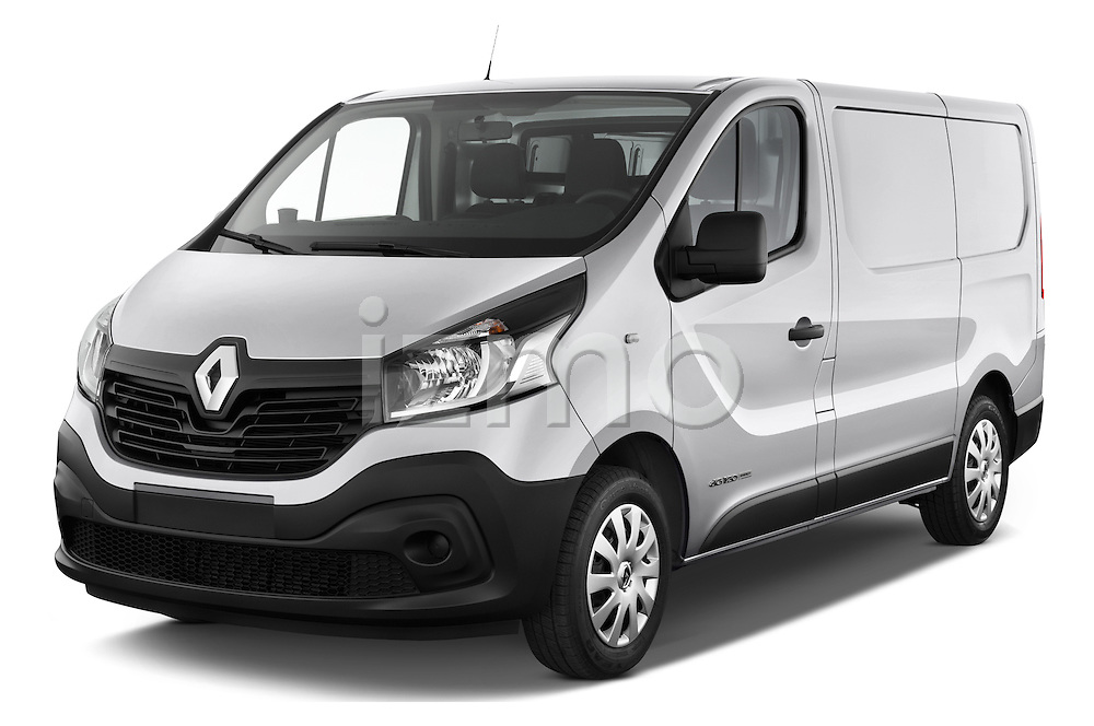 2015 Renault Trafic Fourgon Extra L1H1 dCi 120 TT S&S 2.7T 4 Door Cargo Van 2WD Angular Front stock photos of front three quarter view