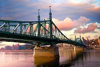 Liberty or Freedom Bridge (Szabadság híd,). Budapest, Hungary