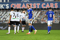 Aden Flint of Cardiff City celebrates at full time during the Sky Bet Championship match between Swansea City and Cardiff City at the Liberty Stadium in Swansea, Wales, UK. Saturday 20 March 2021