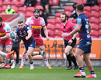 27th March 2021; Ashton Gate Stadium, Bristol, England; Premiership Rugby Union, Bristol Bears versus Harlequins; Andy Uren of Bristol Bears passes to Callum Sheedy