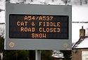 03/02/16 <br /> <br /> The A54, Cat & Fiddle Road, was closed due to heavy snowfall between Buxton and Macclesfield, in the Derbyshire Peak District.<br /> <br /> All Rights Reserved: F Stop Press Ltd. +44(0)1335 418365   +44 (0)7765 242650 www.fstoppress.com