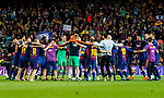 Players of FC Barcelona celebrate their team's the La Liga and Copa del Rey  after the La Liga 2017-18 match between FC Barcelona and Real Madrid at Camp Nou on May 06 2018 in Barcelona, Spain. Photo by Vicens Gimenez / Power Sport Images