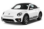 2017 Volkswagen Beetle Dune 3 Door Hatchback Angular Front stock photos of front three quarter view