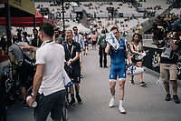 Daniel Martin (IRE/QuickStep Floors) wiping of some sweat ahead of starting his TT<br /> <br /> 104th Tour de France 2017<br /> Stage 20 (ITT) - Marseille › Marseille (23km)
