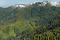 Clear cut logging on Revillagigedo Island, Tongass National Forest, southeast, Alaska.