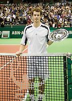 15-2-09,Rotterdam,ABNAMROWTT, Prijsuitreiking Andy Murray
