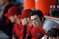 Conor Jackson of the Arizona Diamondbacks during a game from the 2007 season at Dodger Stadium in Los Angeles, California. (Larry Goren/Four Seam Images)