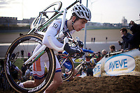 For a first time this season World Cup leader Wout Van Aert (BEL/Vastgoedservice-Golden Palace) isn't the main protagonist in a race he participates in<br /> <br /> UCI Cyclocross World Cup Heusden-Zolder 2015