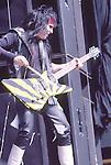Mick Mars Motley Crue  at Castle Donnington , England Aug 1984 Donnington Monsters of Rock 1984 Donnington 1984
