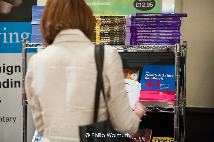 Bookstall, ChartyFair 2010, Directory of Social Change, Hilton Metropole Hotel, London.