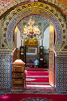 Fes, Morocco.  Entrance to the Zaouia of Moulay Idris II.