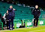 Celtic v St Johnstone…06.12.20   Celtic Park      SPFL<br />Callum Davidson shouts instructions watched by Neil Lennon<br />Picture by Graeme Hart.<br />Copyright Perthshire Picture Agency<br />Tel: 01738 623350  Mobile: 07990 594431