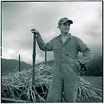 JUNE 1995    -  Queensland, Australia   - On the Cook Highway southband in Queensland from Cairns a teenage boy work for his family Sugar Cane Farming.