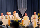 June 1, 2013; Notre Dame President Rev. John I. Jenkins, C.S.C. celebrates the 2013 Reunion Mass.<br /> <br /> Photo by Matt Cashore/University of Notre Dame